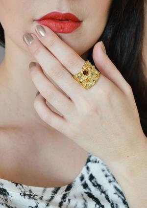 Стильное кольцо в этно стиле