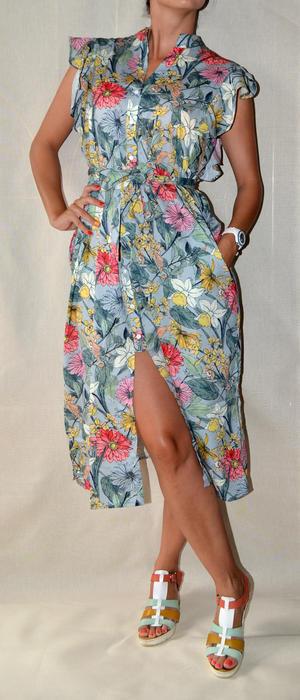 Платье-халат в цветочек
