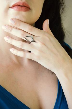 Геометрическое кольцо из стали