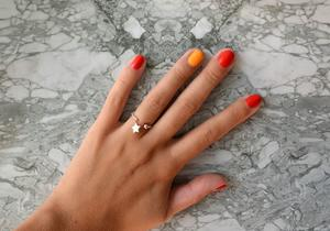Кольцо со звездочкой